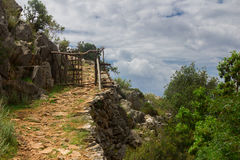 Via di casa di Lycian Immagine Stock