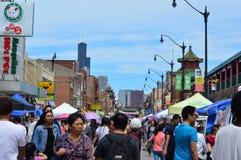 Via 2016 di Chinatown giusta Fotografia Stock Libera da Diritti