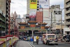 Via di Chinatown a Manila, Filippine Immagine Stock Libera da Diritti