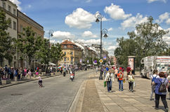 Via di Città Vecchia, Varsavia Fotografia Stock