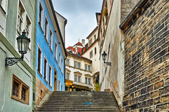 Via di Città Vecchia a Praga Immagine Stock