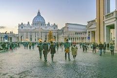 Via di Conciliazione, Roma, Italia Fotografia Stock