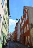 Via di Copenhaghen, Danimarca Immagine Stock Libera da Diritti