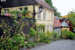 Via di Damstredet a Oslo, Norvegia Fotografie Stock