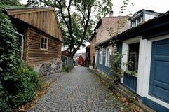Via di Damstredet a Oslo, Norvegia Immagini Stock Libere da Diritti