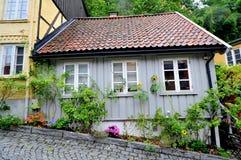 Via di Damstredet a Oslo, Norvegia Fotografia Stock