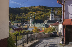 Via di Dolna Ruzova nella città del tiavnica del ¡ Ådi Banskà Immagine Stock