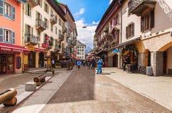Via di Dott. Paccard a Chamonix-Mont-Blanc Immagine Stock