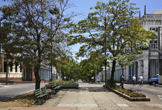 Via di EL Prado di Paseo in Cienfuegos cuba Immagine Stock Libera da Diritti