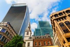 Via di Fenchurch del grattacielo 20 a Londra, Regno Unito Fotografie Stock Libere da Diritti