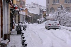 Via di Georgi S Rakovski nell'inverno Fotografia Stock