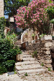 Via di Gordes, Provenza, Francia fotografia stock libera da diritti
