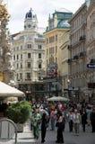 Via di Graben, Vienna fotografie stock libere da diritti