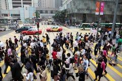 Via di Hong Kong fotografia stock
