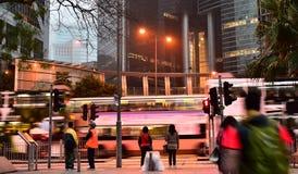 Via di Hong Kong all'alba Immagini Stock Libere da Diritti