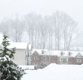 Via di inverno Fotografia Stock Libera da Diritti