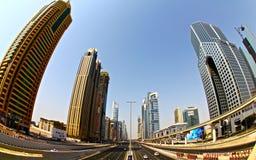via di khalifa Il Dubai UAE Immagini Stock Libere da Diritti