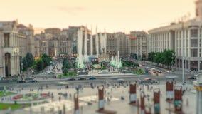 Via di Khreshchatyk e quadrato di indipendenza a Kiev Kiev video d archivio