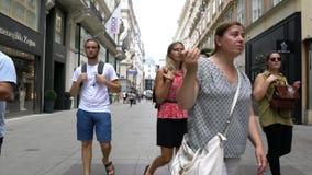 Via di Kohlmarkt a Vienna video d archivio