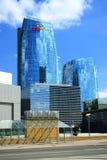 Via di Konstitucijos della città di Vilnius con i grattacieli Fotografia Stock Libera da Diritti