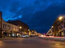 Via di Lindsay Ontario Canada Downtown Kent al crepuscolo Fotografia Stock Libera da Diritti