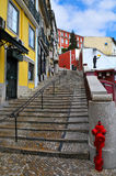 Via di Lisbona immagini stock