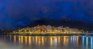 Via di Mariahilf a Innsbruck, Austria Fotografia Stock
