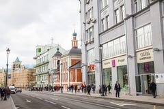 Via di Mosca Fotografie Stock Libere da Diritti
