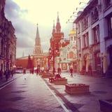 Via di Mosca Fotografia Stock Libera da Diritti