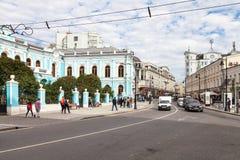 Via di Myasnitskaya vicino alla Camera di Chertkov Immagini Stock Libere da Diritti