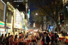 Via di Myeongdong Immagini Stock Libere da Diritti