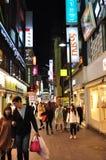 Via di Myeyongdong, Seoul Corea del Sud Fotografia Stock Libera da Diritti