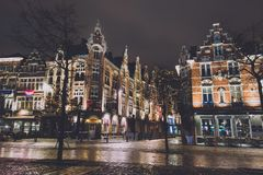Via di Natale di Gand nel Belgio Fotografie Stock