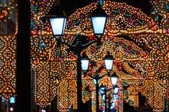 Via di Natale a Mosca Immagini Stock Libere da Diritti