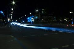 via di notte fotografia stock