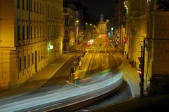 Via di notte Fotografia Stock Libera da Diritti
