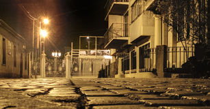 Via di notte Immagine Stock Libera da Diritti
