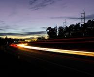 Via di notte. Immagine Stock