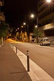 Via di notte Fotografie Stock Libere da Diritti