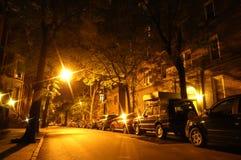 via di notte Fotografie Stock