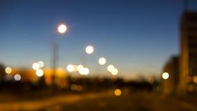 Via di notte della città Fotografia Stock