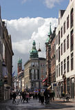 Via di Nygade a Copenhaghen Fotografie Stock Libere da Diritti