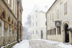 Via di Opaticka a Zagabria, Croazia Fotografie Stock