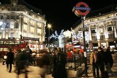 2013, via di Oxford con la decorazione di Natale Fotografia Stock