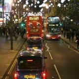 2013, via di Oxford con la decorazione di Natale Fotografie Stock Libere da Diritti