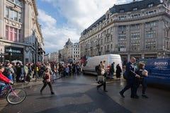 Via di Oxford, Londra, 13 05 2014 Immagini Stock