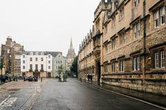 Via di Oxford un il giorno piovoso Immagini Stock Libere da Diritti