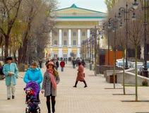 Via di Panfilov - di Almaty Fotografia Stock Libera da Diritti