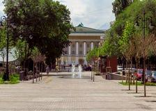 Via di Panfilov - di Almaty Fotografie Stock