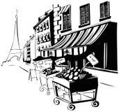 Via di Parigi Immagini Stock Libere da Diritti